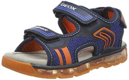 Geox J J Sandal Android Boy A, Bout Ouvert garçon, Blue (Navy/Orange C0659), 36 EU