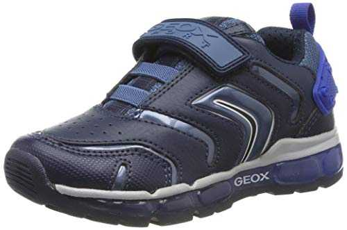Geox J Android Boy B, Baskets garçon, Bleu (Navy/Royal C4226), 30 EU