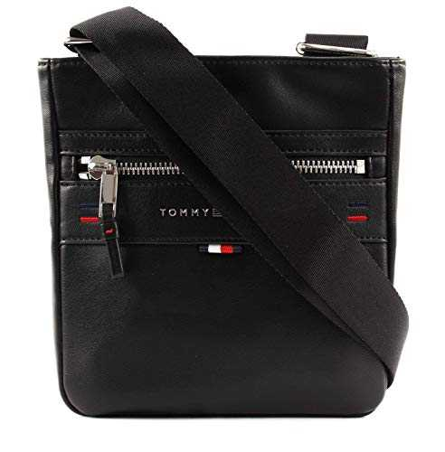 Tommy Hilfiger Elevated Mini Crossover Novelty, Sacs portés épaule homme, Noir (Black), 8.5x17x30 cm (B x H T)