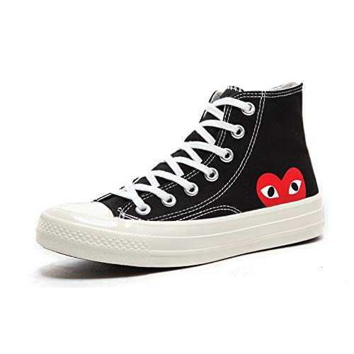 Replica 1970s Canvas Shoes Joint Name CDG Play Love Heart Unisex Adults´ High-Top Sneaker