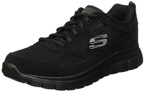 Skechers Burns, Sneakers Basses Homme, Noir (Black 52635-Bbk), 42 EU
