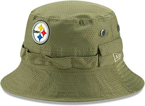New Era NFL Pittsburgh Steelers on Field 2019 Salute to Service Chapeau Vert Olive - Vert - Taille Unique