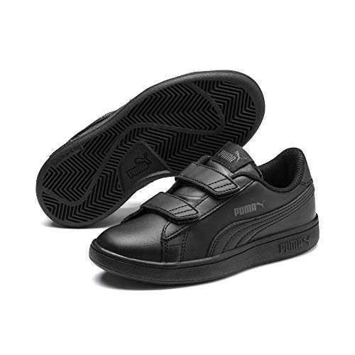Puma Smash v2 L V PS, Baskets Basses Mixte Enfant, Noir (Puma Black-Puma Black 01), 31 EU