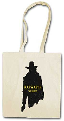 "Urban Backwoods RATWATER Whiskey ""J"" Réutilisable Pochette Sac De Courses en Cotong– Whisky Jesse Comic Preacher Cassidy Custer Texas TV Series TV Garth Cassidy"