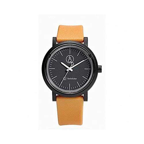 Q&Q SmileSolar Series Black Dial x Ocher Strap RP12J002Y Powered by Solar