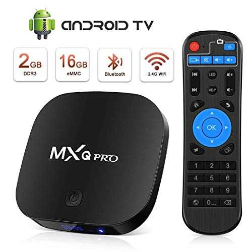 TV Box Android 4K Boîtier TV [2GB RAM 16GB ROM] [2019 Dernière Version] SUPERPOW Android Smart TV, Android Box avec HD/H.265 / 4K / 3D (MXQ Pro New)