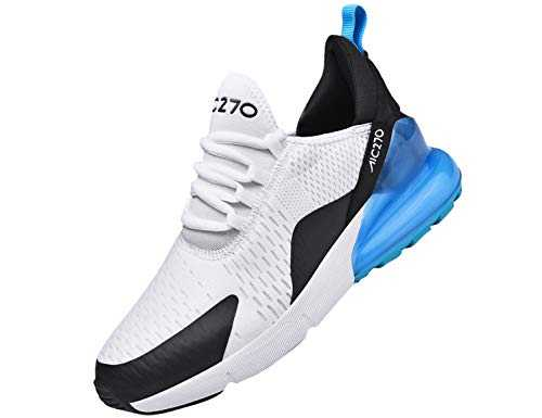 SINOES Femme Homme Baskets Chaussures Sport Outdoor Running Gym Fitness Sneakers Style Running Multicolore Respirante Blanc 36 EU