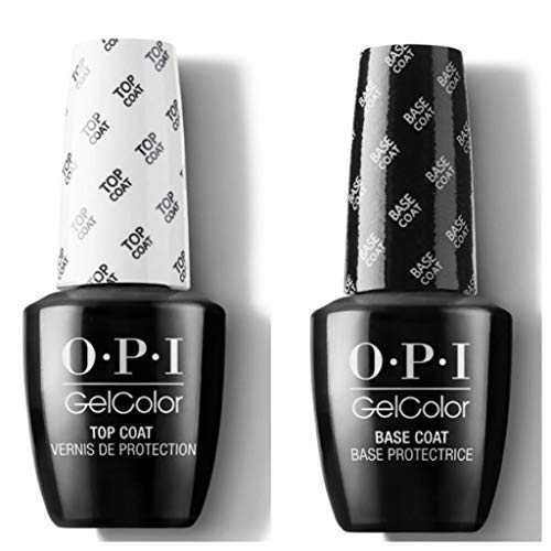 OPI GELCOLOR DUO PACK BASE COAT+TOP COAT (GC 030 + GC 010) 15 ML/GEL POLISH !!