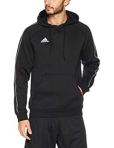 adidas Core18 Hoody Sweat-Shirt Homme, Noir/Blanc, FR : L (Taille Fabricant : L)