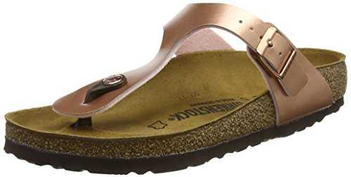 Birkenstock Gizeh, Tongs Femmes Rose (Soft Metallic Rose Gold Soft Metallic Rose Gold), 35 EU