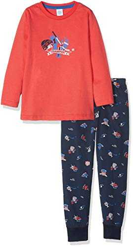 Sanetta Long Ensemble de Pyjama, Rouge (True Red 38057.0), 140 cm Garçon