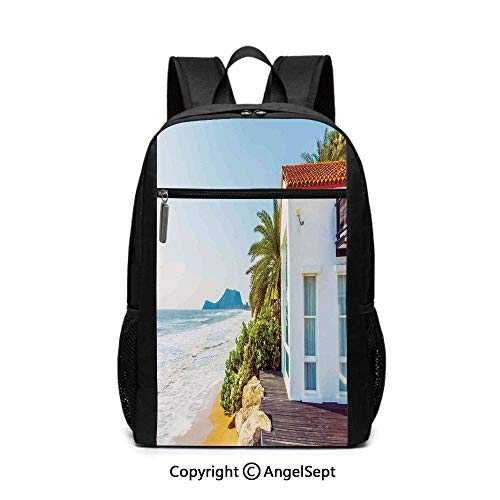Coastal Charmd Beach House Porch View Moroccan Architecture Islandsy Travel Backpack