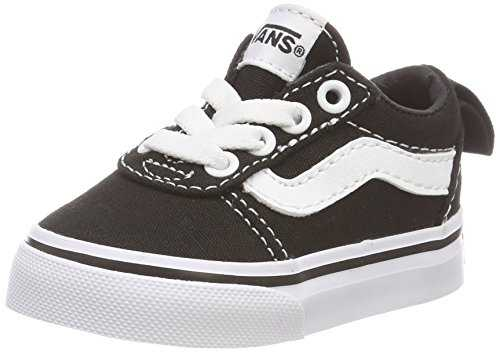 Vans Ward Slip, Sneakers Basses Mixte bébé, Noir ((Canvas) Black/White 187), EU Noir ((Canvas) Black/White 187) 24 EU