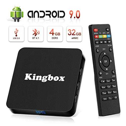 Android 9.0 TV Box 4K Boîtier TV [4GB RAM 32GB ROM ] USB 3.0 [2019 Dernière Version] SUPERPOW K4 S Android 9.0 Smart TV, Android Box avec HD/H.265 / 4K / 3D / BT4.1 (k4 s)
