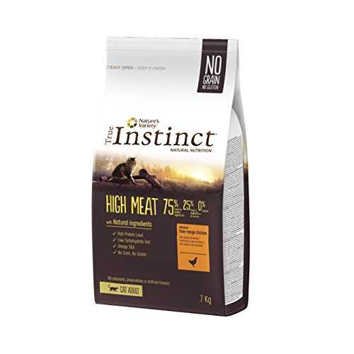 True Instinct High Meat Adult Nourriture pour Chat Poulet Elevé en Plein Air Désossé 7 kg