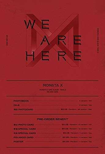 Starship Entertainment Monsta X - We Are Here [III Ver.] (Vol.2 Take.2) 1CD 134p Photobook 2Photocard Pre-Order Benefit Folded Poster Double Side Extra Photocards Set