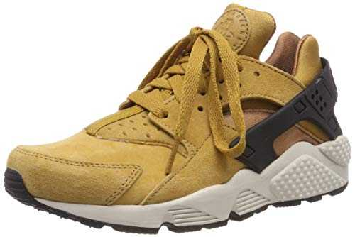 Nike Air Huarache Run PRM, Chaussures de Fitness Homme, Multicolore (Wheat/Black/Light Bone/Ale Brown 700), 43 EU