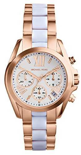 MK marques Bracelet montre chronographe Bradshaw acier inoxydable Mini or rose 5907