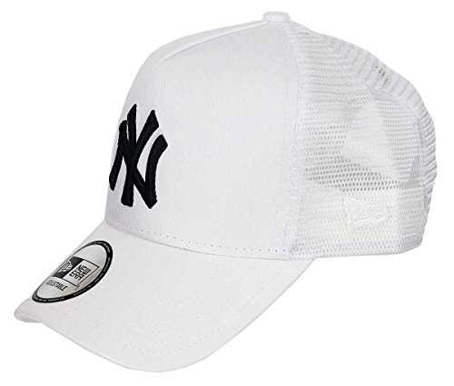 New Era - New York Yankees - A-Frame Trucker Cap - Black White Edition - White - One-Size