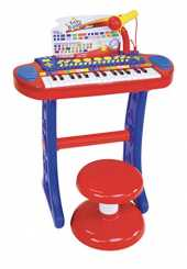 Bontempi- Orgue, 133240, Rouge/Bleu/Blanc