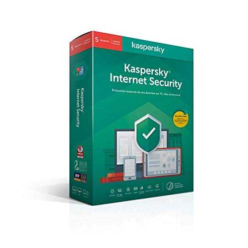 Kaspersky Internet Security 2020 (5 Postes / 1 An)|Internet Security|5 appareils|1 An|PC/MAC/Android|Telechargement