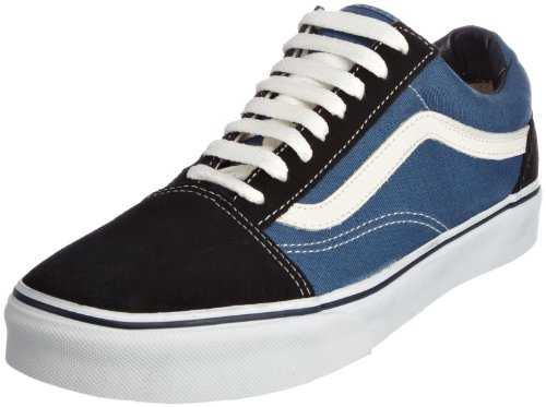 Vans Old Skool Classic Suede/Canvas, Baskets Basses Mixte Adulte, Bleu (Navy), 44.5 EU