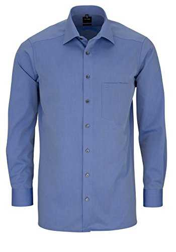 "OLYMP &apos Chemise ""Moderne Fit extralange manches - Bleu - 42"