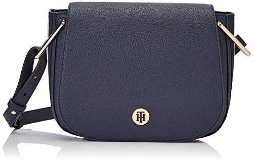 Tommy Hilfiger Th Core Saddle Bag Corp, Sacs bandoulière femme, Blanc (Corporate),