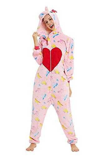 ABYED Adulte Unisexe Anime Animal Licorne Carnaval Costume Cosplay Combinaison Pyjama Outfit Nuit Vetements Onesie Fleece Halloween Costume Soiree de Deguisements