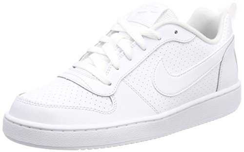 Nike Court Borough Low (GS), Baskets Garçon - Blanc (White/White-White 100), 38.5 EU