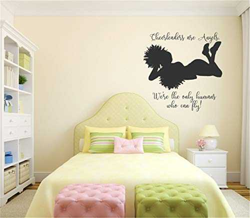 stickers muraux enfants bleu stickers muraux chambre adulte marron Dance wall decal Cheerleaders are Angels Vinyl Wall Words Decal Sticker for girls room dance room
