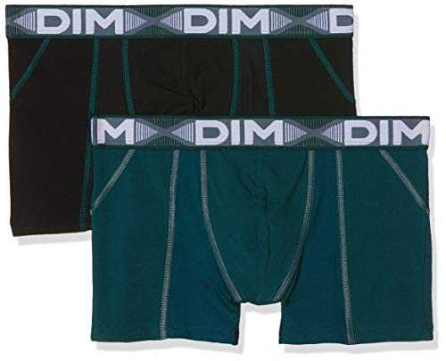 Dim 3D FLEX AIR BOXER X2 Boxer de bain Homme Multicolore (Vert Pacific/ Noir 8nv) Medium (Taille fabricant:3) 2lot de2