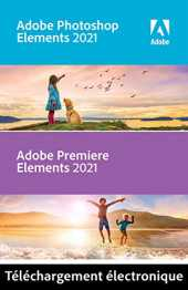 Adobe Photoshop & Premiere Elements 2021 | 1 Usager | PC | Code d´activation PC - envoi par email