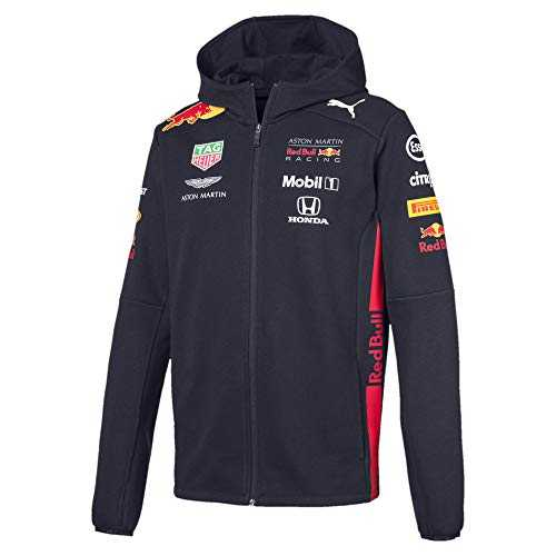 PUMA Red Bull Racing Herren Team Kapuzen-Sweatjacke Night Sky XS