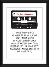 The Cure Lovesong Lyrics Unframed Print/Unframed Imprimer