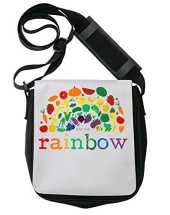 Vegetables Rainbow Plant Based Diet LGBT Gay Lesbian Sac porté épaule Homme Sacoche Bandouliere Unisex Shoulder Bag
