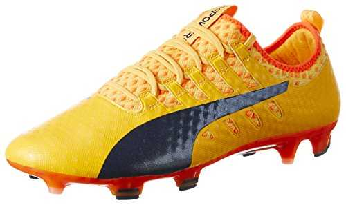 PUMA Evopower Vigor 1 FG, Chaussures de Football Homme, (Ultra Yellow-Peacoat-Orange Clown Fish 07), 44.5 EU