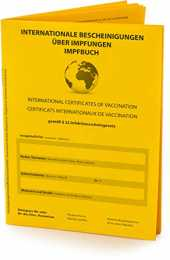 Carnet de vaccination international (version 2021) selon les exigences officielles, carnet de vaccination pour le certificat international de vaccination en tant que document de voyage.