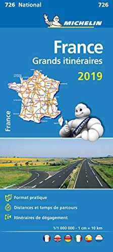 Carte France Grands Itinéraires Michelin 2019