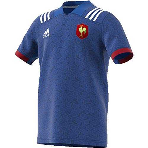 adidas BR3352 Maillot Mixte Enfant, Bleu/Blanc/Powred, FR : XS (Taille Fabricant : 170)