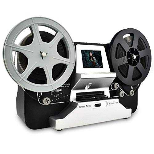 Scanner de pellicule pour Films 8 mm et Super 8, Film Scanner Digitalisation de Films Super 8 Digital Converter HD 1080P 2.4´´LCD