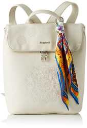 Desigual PU Backpack Medium, Femme, Blanc, M