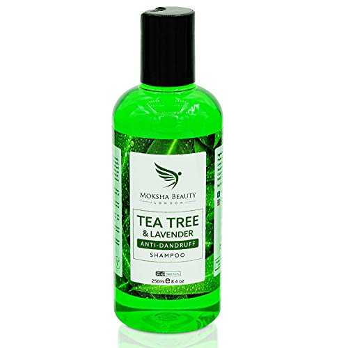 Tea Tree Oil Antipelliculaire Shampooing Professionnel Arbre à Thé- [Made In UK] Thérapie Grade | Tue les Bactéries Antifongiques pour Démangeaisons Anti-Pelliculaire Prévient les Poux | 250ml