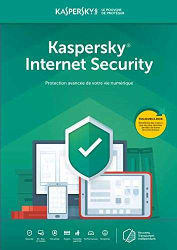 Kaspersky Internet Security 2020 | 1 Appareil | 1 An | PC/Mac | Online Code