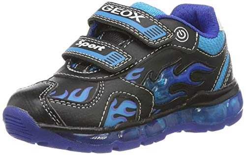 Geox J Android Boy C, Baskets garçon, Noir (Black/LT Blue C0035), 29 EU