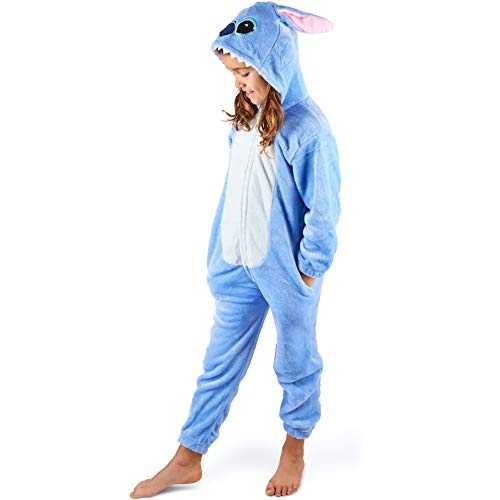 Maybear Combinaison Pyjama Enfant Adulte Costume d´animal Cosplay Doux Chaud Onesie Déguisement (S)