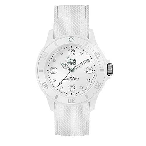Ice-Watch - Ice Sixty Nine White - Montre Blanche pour Femme avec Bracelet en Silicone - 014577 (Small)