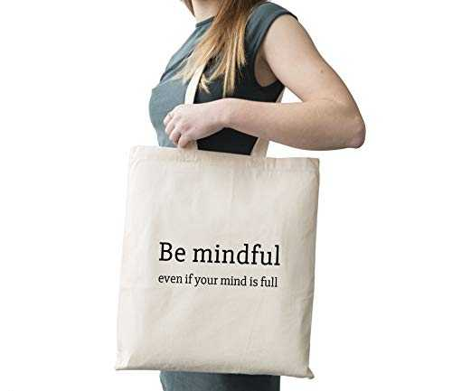 Be Mindful Cotton Canvas Tote Carry All Day Bag