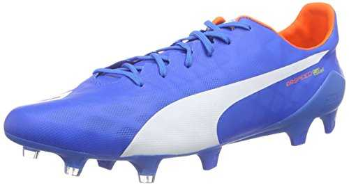 PUMA Evospeed SL FG, Chaussures de Football Homme, Blau (Electric Blue Lemonade-White-Orange Clown Fish 03), 45 EU
