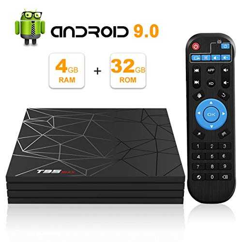 Android TV Box, Android 9.0 TV Box 4Go RAM 32Go ROM H6 Quad-Core cortex-A53 Support 3D 6K Ultra HD H.265 2.4GHz WiFi Ethernet HDMI Smart TV Box